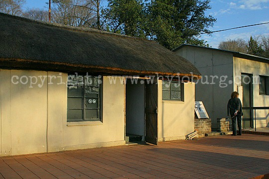 The small thatched outbuilding at Liliesleaf, in which all of the ANC's high command were attending a meeting, when the police raided