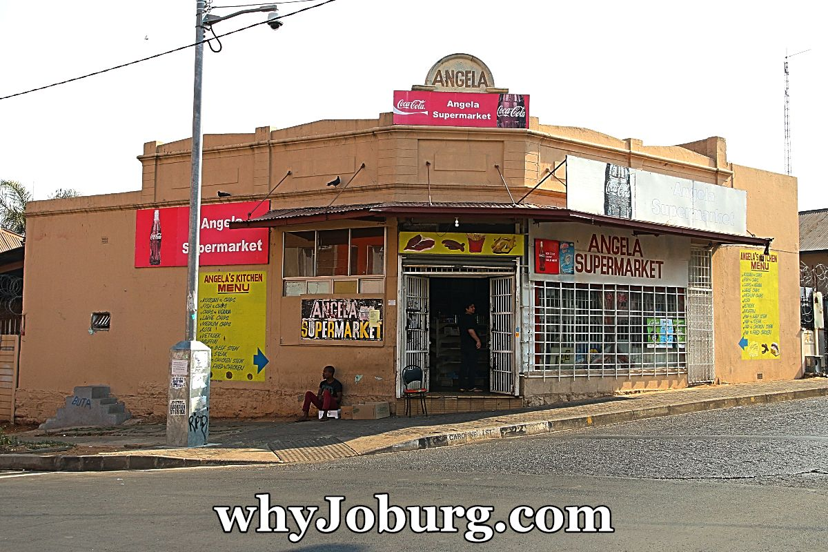 "A typical ""Corner Café"" that was an iconic landmark in Johannesburg."