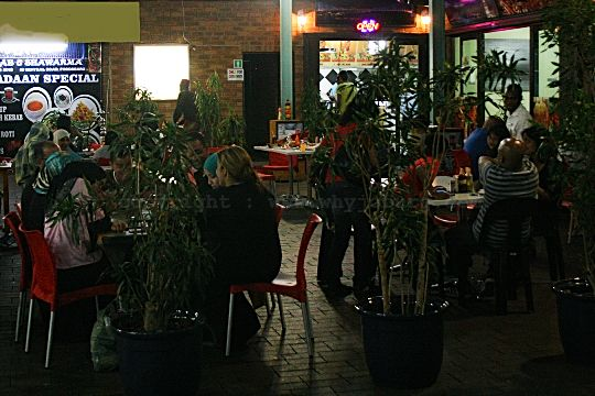 The outdoor seating area at the Istanbul Turkish Restaurant in Fordsburg, Johannesburg