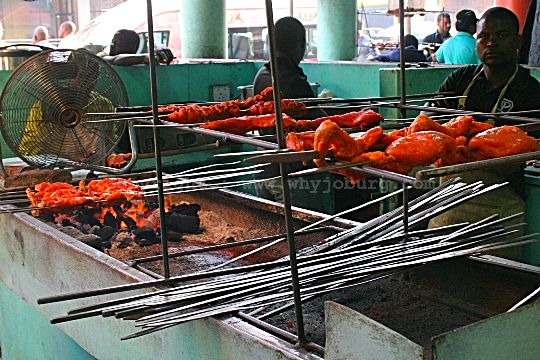 'King Kabab House' sells spicy chicken, cooked over coals