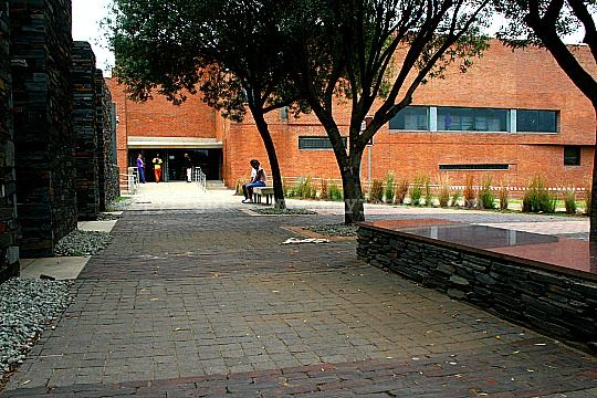 The walkway past the Hector Pieterson Memorial towards the Museum entrance