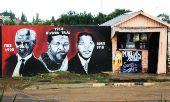 Soweto street art of Nelson Mandela