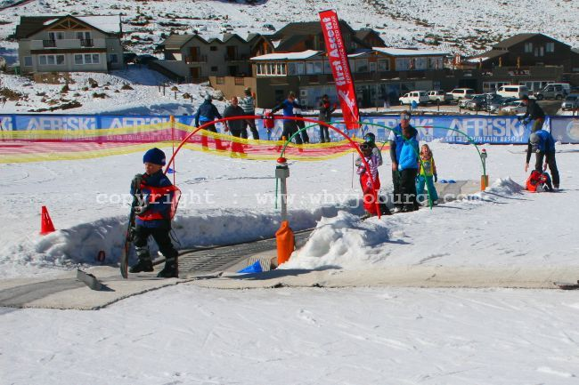 The moving Magic Carpet at the kid's Pudi Ski School at Afriski Mountain Lodge in Lesotho