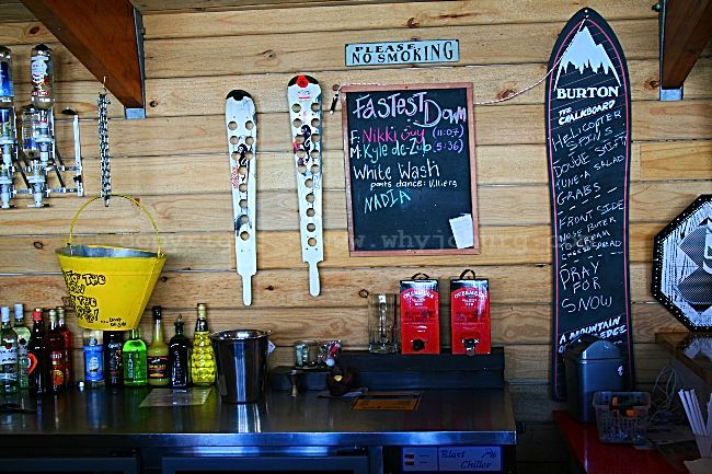 """The """"Fastest Down"""" skiing results on the wall in the pub at the Afriski Mountain Lodge in Lesotho"""