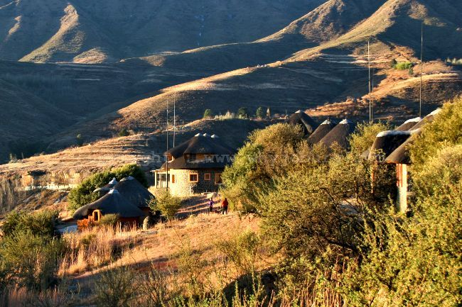 Liphofung Historical Site, 43 kms away, offers alternative - and much cheaper accommodation, than that available at the Afriski Mountain Lodge in Lesotho.
