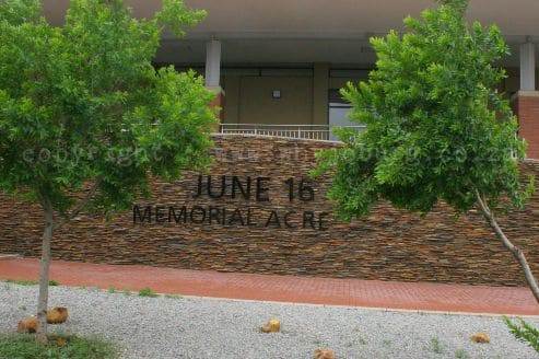 1976 Memorial Acre, which is opposite the Morris Isaacson High School, houses the June 16th Memorial and Youth Institute